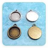 Camafeo base tipo medalla de 15x15mm basic CAMBAS-R17054b
