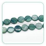 Concha en forma redonda Azul Pavo (35 unidades) CONCH-C18996
