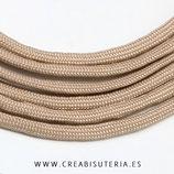 CESCALADA034B - Cordón de Nylon de Escalada  4mm  Modelo marrón claro - ocre (3 Metros)