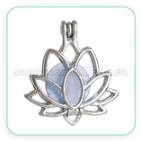 Colgante Flor de Loto articulable y resina azul  ZAMAK   COLOOO-C0083109