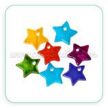 Concha en forma de estrella colores VIVOS(10 unidades) CONCH-Estrellitas