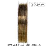 Hilo. Alambre de cobre marrón 0,3mm 20metros C562