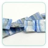 Concha en forma cuadrada tonos azul CONCH-C17866 (10 unidades)