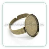 Anillo bronce antiguo ovalado 13x18mm ANIOOO-C16276