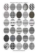 30 Imágenes de estampados retro blanco y negro I 30x40mm