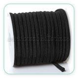 Cordón Lycra elástica Soft 5mm Negro - 5m