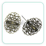 Broche filigrana ornamental ovalada BROOOO-B30004