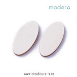 Madera oval pequeño sin agujero madera clara   P046  (20 unidades)