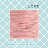 Cordón macramé 1mm Carrete  120metros Calidad suprema color rosa palo  M08SROSA