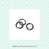 Anillas metal negras  5mm de diámetro ACCANI-C48532 - 100 unidades aprox.