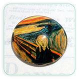 Cabuchón Cristal ilustrado EL grito de Munch