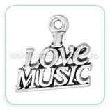 """Charm music """"love music""""  CHAOOO-C72871 (10 unidades)"""