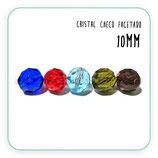 Abalorio cristal checo facetado 9,4mm  (10 unidades)