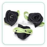 Adorno 10 Flores de tela color negra ADO-C11795