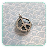 "Charm Espiritual -   ""Paz"" mini (12 unidades) plata vieja CHAOOO-R16688"
