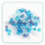 Abalorios cristal craquelado AZUL CLARO - TURQUESA - MAR