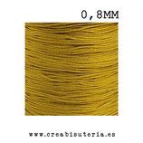 Cordón macramé Gama Deluxe 0,8mm  Color dorado  (5 metros)