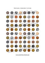 80 Imágenes de estampados de texturas animales 14x14mm