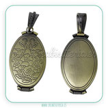 Colgante guardapelo para cuatro fotos bronce viejo COLGUA-C60988