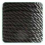 Cordón trenzado de Rayón negro 6mm