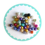 40 unidades Perlas sintéticas colores variados diámetro6x6mm