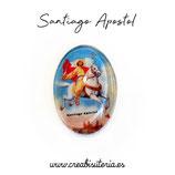 Cabuchón Cristal Religión - Santiago Apostol