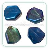 Abalorio cristal Azul Marino irregular C63217 (4 unidades)
