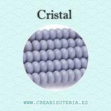 Abalorios -  Cristal donuts 8x3-4mm  P3610 (Tira de 87-88 piezas aprox.)