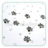 Entrepieza P1- 05 estrella mini rayita plata antigua 4mm (25piezas) ENTOOO-C00393