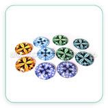 LOTE ÚNICO - Cabuchones redondos 10 unidades 20mm colores pastel C4789-  5 pares