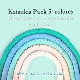 Abalorio arcilla Katsuki polimérica redondo plano 6,5mm (380/400 unidades apro) pack  tonos pastel