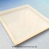Molde de silicona , Base cuadrada - posavasos 10cm  MS019