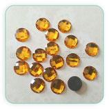 Cabuchón Resina facetado dorado 13mm (10 unidades)