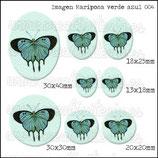 Imagen Mariposa Verde Azul 004