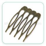 Peineta sencilla pequeña bronce viejo PEI-C14362 (4 unidades)