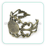 Anillo base ajustable ornamental bronce viejo ANIOOO-C14800