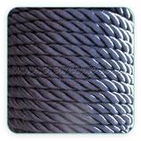 Cordón trenzado de Rayón azul marino 6mm