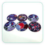 LOTE ÚNICO - 6Conjuntos 30mm tonos morados / violeta AZ04
