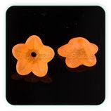 FLORLUCIT 25 -Flores color naranja 13x7mm (16 Unidades)