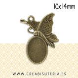 Camafeo Mariposa base 10x14mm (10 unidades) C14398