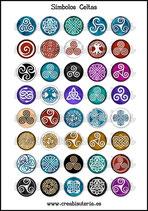 Lámina Imágenes de Símbolos Celtas Colores Variados