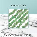 Abalorios Piedra natura lAventurina chips II rect  (80 cm aprox.) AVENT205