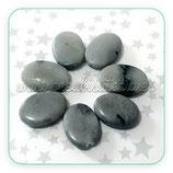 Abalorios piedra natural gris