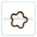 Conector flor hueca (20 piezas ) bronce antiguo mini-C09687