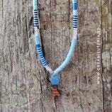 Bisutería acabada - Collar *Pescadito resina y madera* en tonos azules
