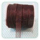 Cinta organza marrón fina 0,7cm ancho