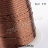 Hilo. Alambre de cobre marrón 0,4mm 30 metros P004