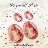 Cabuchón Cristal Religión - Virgen del Rocío tono rosa