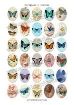 30 Imágenes vintage de mariposas 30x40mm
