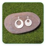 Concha en forma de círculo con agujero-  nácar -